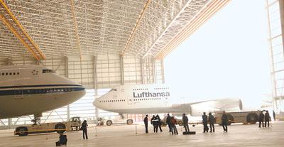 世界最大a380飞机维修机库在首都机场竣工
