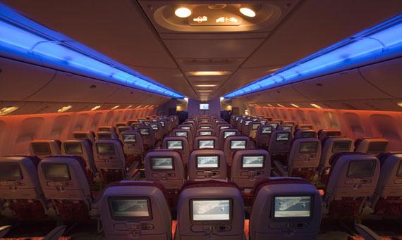 卡塔尔航空公司客机经济舱