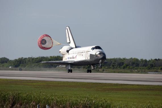 发现号航天飞机顺利返航 亚特兰蒂斯号5月升空