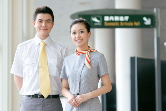 海南航空乘务员图片