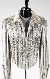 1984年胜利之旅银色拼接皮夹克