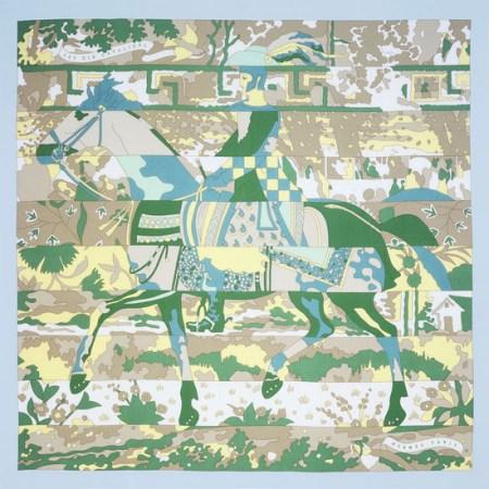 花样繁多的Hermès丝巾