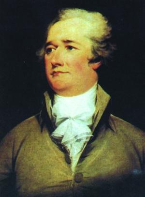 《联邦论》主要作者亚历山大-汉密尔顿是美国开国元勋之一,首位美国