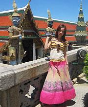 泰国王宫前晒靓个照