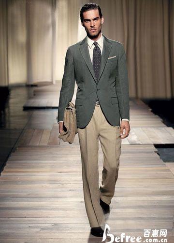 领带与西服衬衣的完美搭配