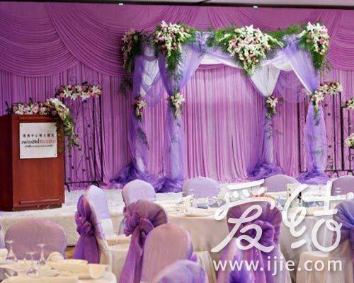欧式复古婚礼布置紫色