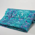 范思哲蓝色印花毯子