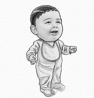 网友为刘德华和朱丽倩的宝宝做的合成图