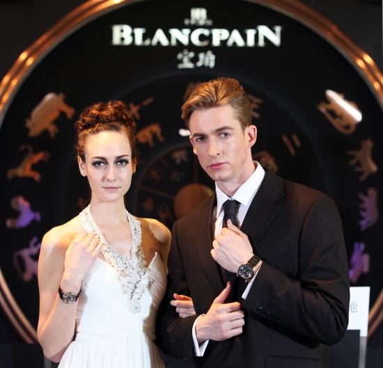 模特现场展示Blancpain宝珀新品腕表