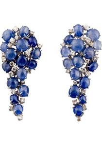 Marithé 蓝宝石钻石镶嵌耳环