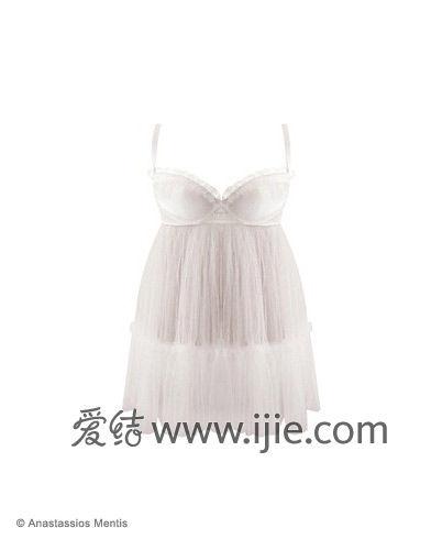 邻家女孩新娘内衣:白色睡衣款