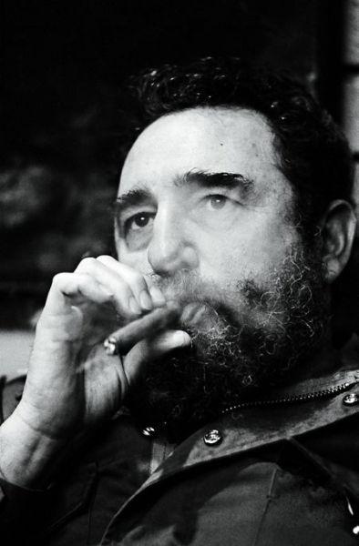古巴领导人卡斯特罗是一位真正的雪茄迷