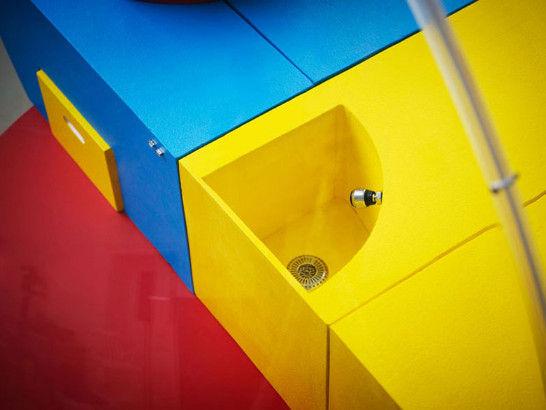 设计师通过添加五彩缤纷、效果各异的模块来区分它们的功能。