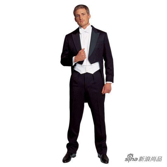 White-tie着装示范