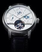 积家超卓传统万年历圆柱游丝陀飞轮大师系列纪念腕表