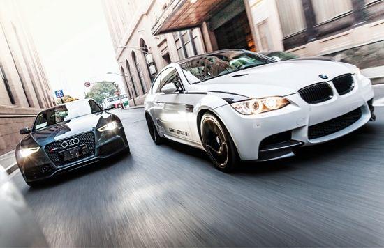 奥迪RS5 Coupe 4.2FSI quattro vs.宝马M3碳纤限量版