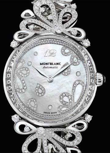 万宝龙Montblanc 摩纳哥格蕾丝王妃系列玫瑰花瓣顶级珠宝腕表