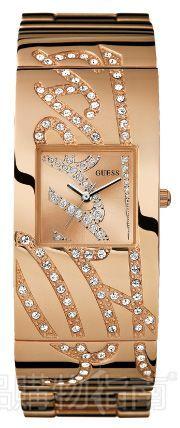 Guess 金色宝石镶嵌手环腕表