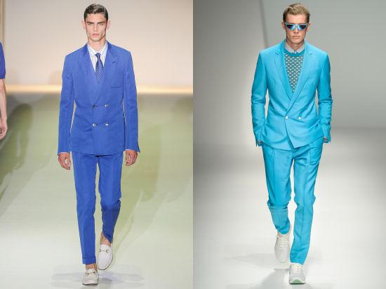 Gucci 2013春夏秀场(左);Salvatore Ferragamo 2013春夏秀场(右)