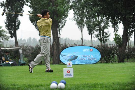 土耳其航空世界高尔夫杯在京开杆