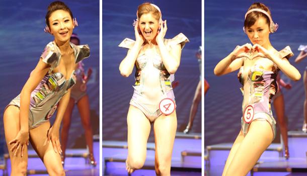 2013新丝路北美模特大赛 选手泳装表演