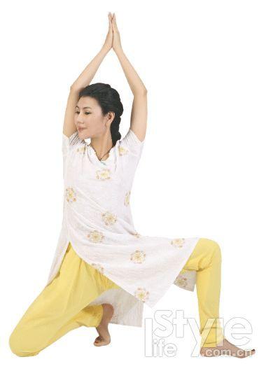 单腿平衡伸展式