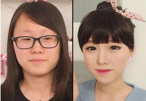 """韩国网络美女节目卸妆 小脸变肿大眼变""""瞎"""""""