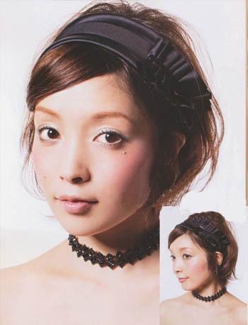 10 随意短发新娘造型   自然灵动而随意的发型样式,少见的短发新娘
