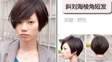 斜刘海棱角短发