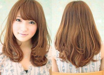 挑染类短发的中长发