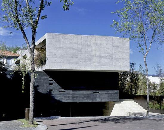 墨西哥城l形建筑:与自然融为一体