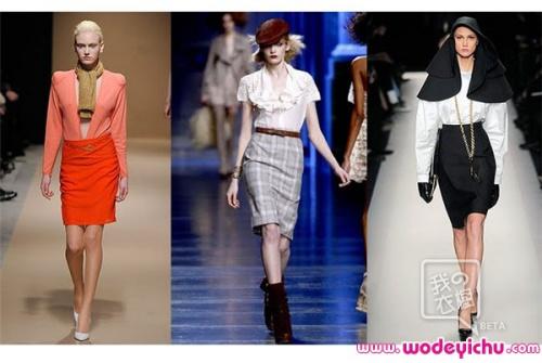 2010春夏T台上的铅笔裙大放异彩
