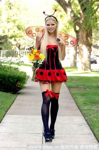 性感红色蝴蝶结中筒袜