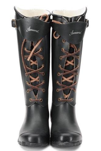 工装靴风格的雨鞋
