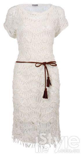 白色镂空连身裙 KooKai 2580元