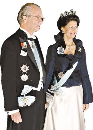 瑞典国王古斯塔夫与王后西尔维娅
