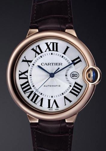 Ballon+bleu+de+Cartier鳄鱼皮表带男款腕表