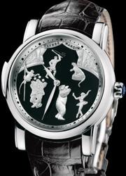 雅典马戏团砂金石三问腕表