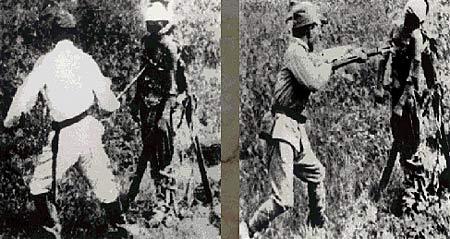 """图文:日军把中国人当作练刺杀的""""活靶"""""""