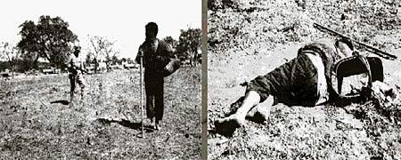 图文:日军无故枪杀一中国人之情景