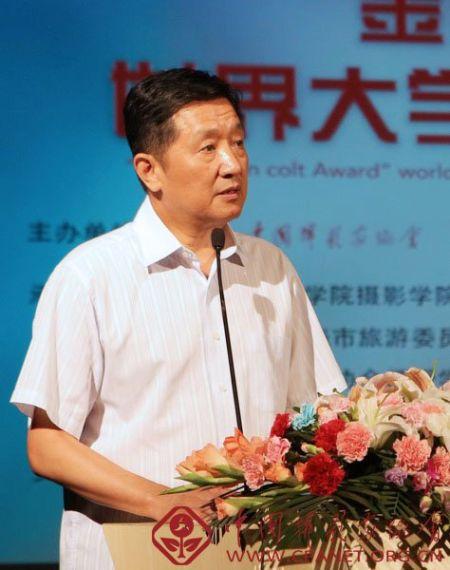 北京电影学院校长张会军致辞。吴承欢摄
