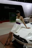 雪铁龙展台12号模特