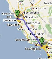 旧金山―洛杉矶:657公里