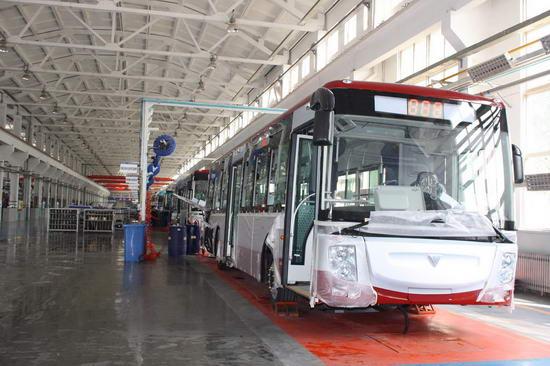 即将下线的福田欧V新能源客车