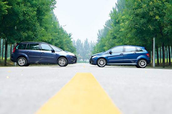 雪铁龙大C4毕加索和奔驰B200