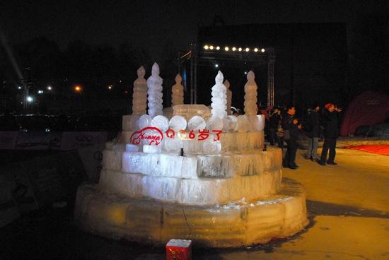冰雕――QQ6岁生日蛋糕