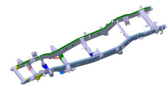 图为威麟X5高刚性车架