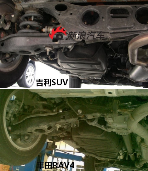 吉利帝豪EX7与丰田RAV4底盘对比