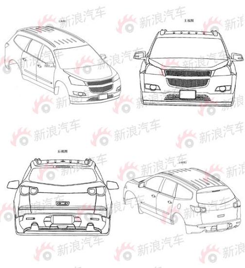 通用汽车申报的酷似科鲁兹版SUV简视图
