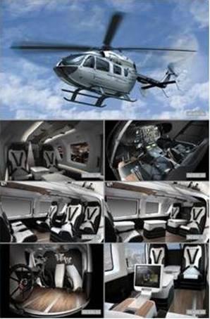 梅赛德斯-奔驰与欧洲直升机公司合作的EC145超豪华直升机